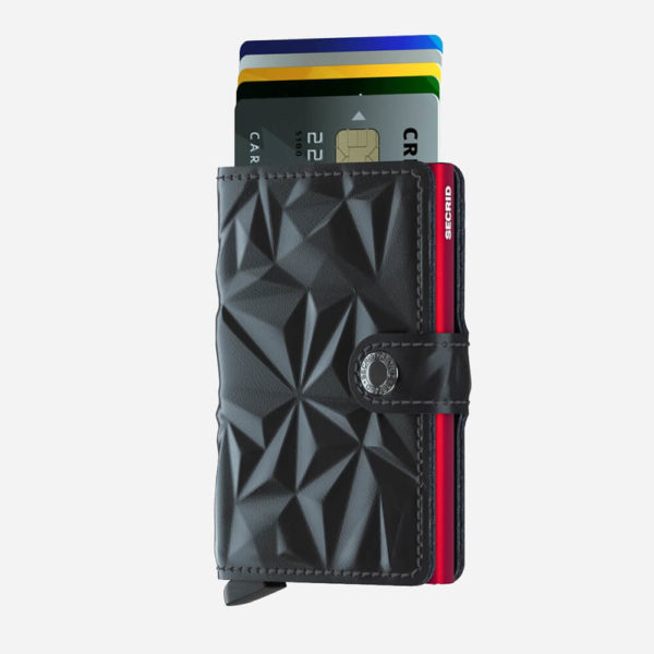 Portfel Secrid Miniwallet Prism Black/Red