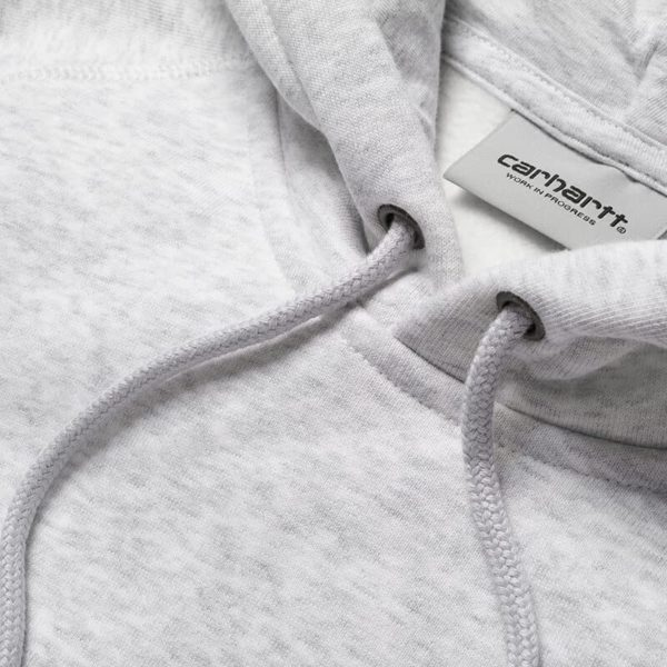 Bluza Carhartt WIP Hooded Chase Sweat Ash Heather Gold