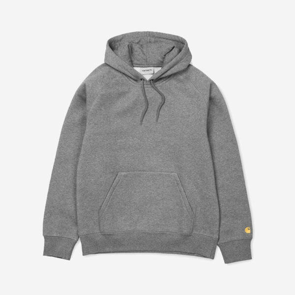 Bluza Carhartt WIP Hooded Chase Sweat Dark Grey Heather Gold