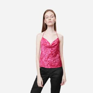 Top Neige Creased Tank Top Pink