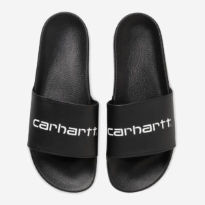 Klapki Carhartt WIP Slipper Black White
