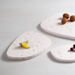 Design ZOA Concept Assymetric Tray Pink Terrazo