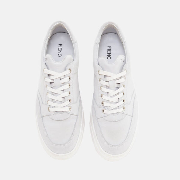 Buty Fieno Low Trainer Suede White